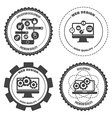 set icons web mobile services apps vector image