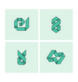 set of minimal geometric monochrome symbol set vector image vector image