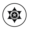 Sheriff badge icon vector image vector image