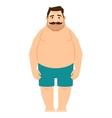 Single fat man cartoon vector image vector image