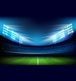 soccer field with stadium 001 vector image vector image