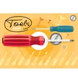 Standard cabinet tip screwdriver turn-screw vector image vector image