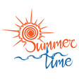summer logo time enjoy your holidays vector image vector image