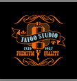 tattoo studio logo design premium quality estd vector image