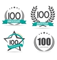 Template Logo 100 Years Anniversary Set vector image vector image