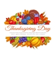 Thanksgiving Day greeting card decoration vector image vector image