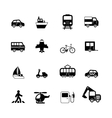 Transportation pictograms collection vector image vector image