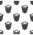 trashcan seamless pattern vector image