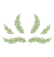vintage olive branches twig and wreath set vector image vector image