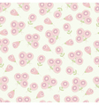 Vintage romantic flower seamless pattern vector image