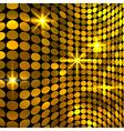 Wavy golden mosaic background vector image