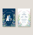 wedding invitation cards bride and groom vector image