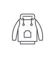 winter jacket line icon concept winter jacket vector image vector image