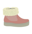 winter woman shoe icon flat style vector image vector image