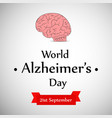 world alzheimers day background vector image
