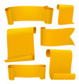 yellow tapes template set vector image