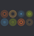 round guilloche pattern set vector image