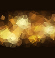 abstract dark gold polygonal which consist of vector image vector image