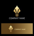 abstract gold medal logo vector image
