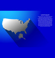 abstract map of united states of america with vector image vector image