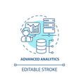 advanced analytics concept icon