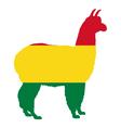 Alpaca Bolivia vector image vector image