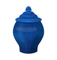antique classical vase in bright blue color vector image vector image