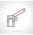 Automatic rising barrier simple line icon vector image