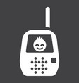 baby monitor solid icon mobile and child control vector image vector image