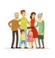 big family with mother vector image vector image