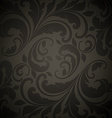 Black Seamless Floral Wallpaper vector image
