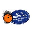 bowling sport scoreboard spotlight background vector image vector image