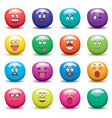 cartoon set of funny fruit jelly faces on white vector image vector image