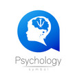 child logotype in with brain and psychology