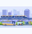 city transportation flat vector image vector image