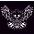 coloring page entangle hand drawing owl vector image