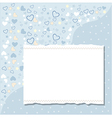Cool template frame design for greeting card vector image vector image