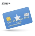 Credit card with Somalia flag background for bank vector image vector image