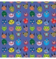 Cute cartoon Monsters Set on blue background vector image