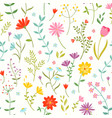 cute seamless floral pattern with spring flowers vector image