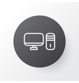 desktop pc icon symbol premium quality isolated vector image