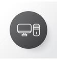 desktop pc icon symbol premium quality isolated