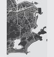 detailed map rio de janeiro vector image vector image