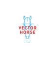 development creative logo horse vector image