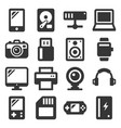 devices and gadgets icons set on white background vector image vector image