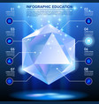 diamond shaped template with web icons in blue vector image vector image