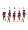 female body types vector image vector image