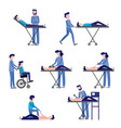 first aid emergency scenes set vector image vector image
