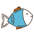 fish pet isolated icon vector image vector image