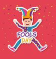 fools day greeting card vector image vector image